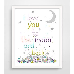 Jeri I Love You to the Moon and Back Paper Print