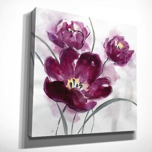 'My Magenta II' by Nan Painting Print on Wrapped Canvas by Wexford Home