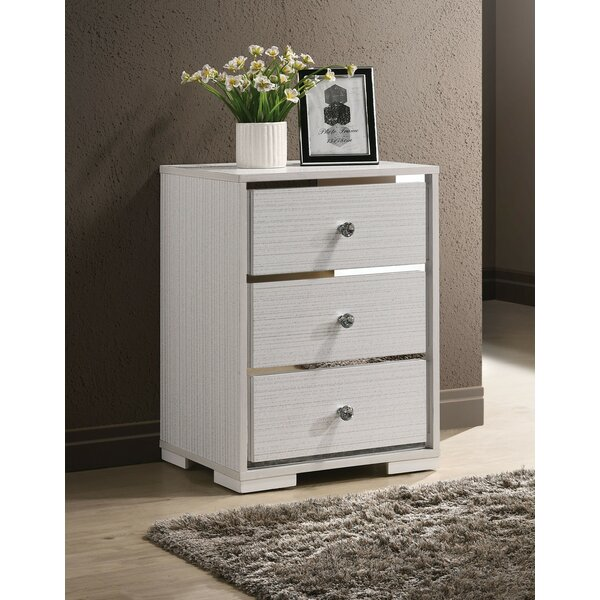 Hegel 3 Drawer Nightstand by Orren Ellis