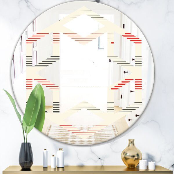 Hexagon Star Horizontal Geometrical Pattern I Eclectic Frameless Wall Mirror