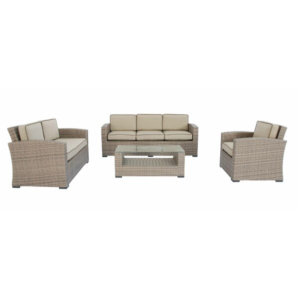 Candor 4 Piece Sofa Set with Cushions by Darby Home Co