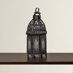 Reviews Ulloa Glass and Metal Lantern By Bungalow Rose