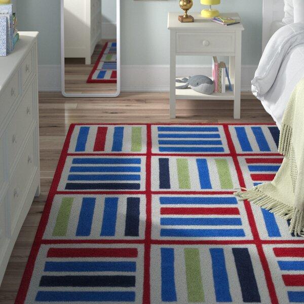Kaylee Blue/Red Elements Area Rug by Viv + Rae