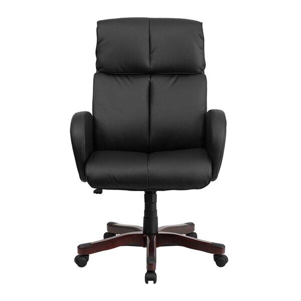 Dermody High-Back Leather Executive Chair by Latitude Run