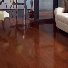 High Gloss 3-1/4 Solid Oak Hardwood Flooring in Cherry by Somerset Floors