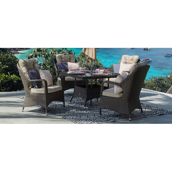 Axl 5 Piece Dining Set with Cushion by One Allium Way