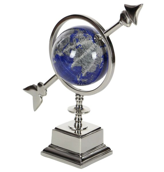 Opulent Aluminum Globe with Arrow by Orren Ellis