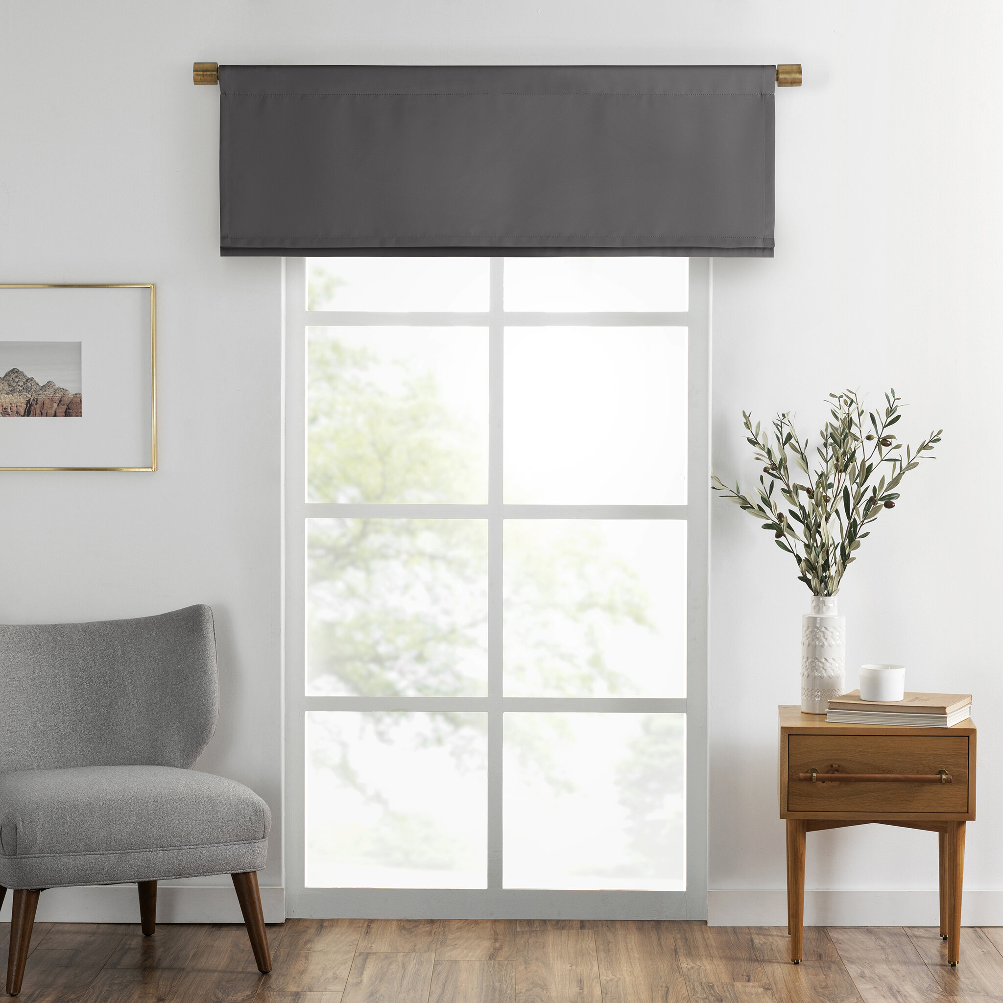Canora Grey Mcconkey Straight Pleated 50 Window Valance Reviews