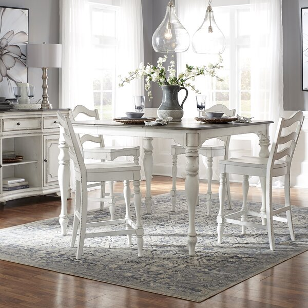 5 Piece Extendable Pub Table Set by Ophelia & Co.