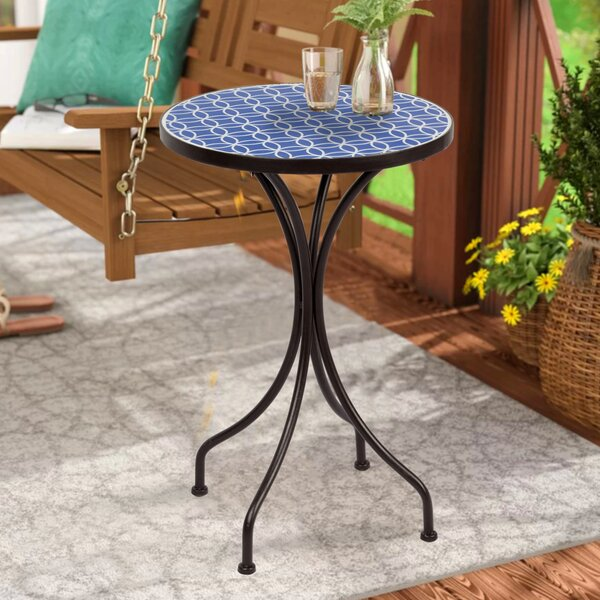 Madera Metal Side Table by Bay Isle Home