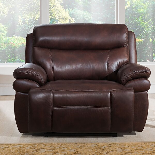 Kubik Leather Power Recliner [Red Barrel Studio]