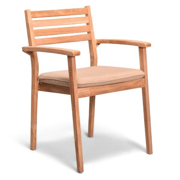 Culbertson Teak Patio Dining Chair by Highland Dunes Highland Dunes