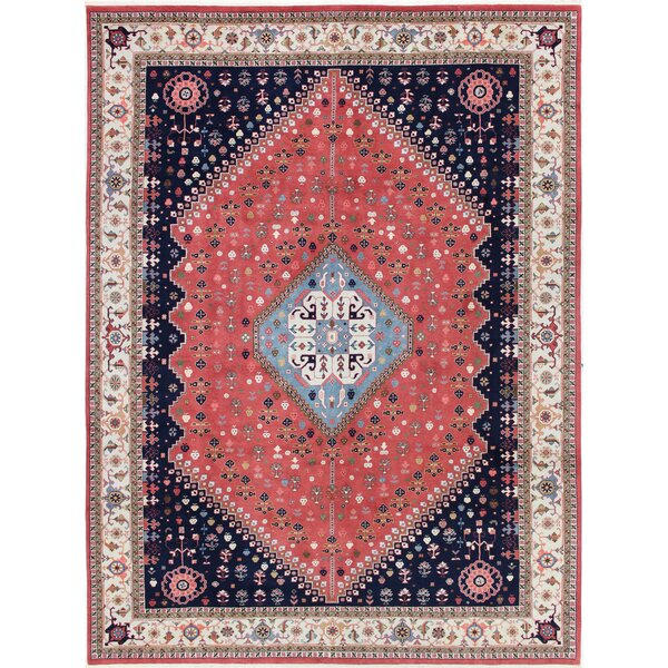 One-of-a-Kind Goodrich Hand-Woven Wool Red/Beige Area Rug by Canora Grey