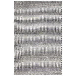 Affordable Price Werner Hand-Woven Blue/Black Area Rug By Gracie Oaks
