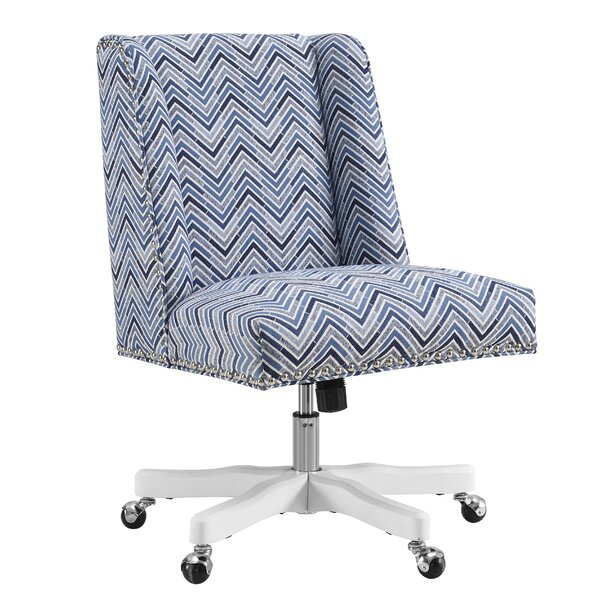 Carrol Chevron Mid-Back Desk Chair by Latitude Run