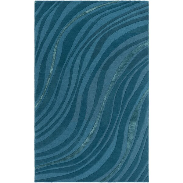Pena Hand-Tufted Teal/Dark Blue Area Rug by Orren Ellis