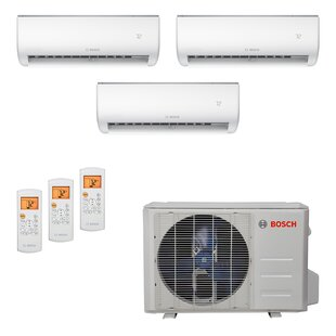 High Efficiency Ultra-Quiet 27,000 BTU Energy Star Ductless Mini Split Air Conditioner with Heater and Remote by Bosch