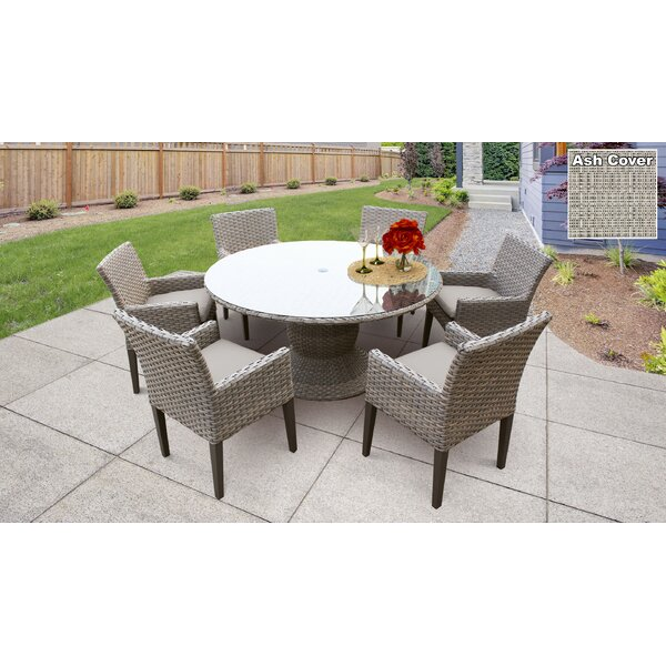 Brennon 7 Piece Dining Set with Cushions by Sol 72 Outdoor