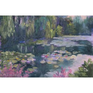 'Monet's Garden II' Painting Print on Canvas by East Urban Home