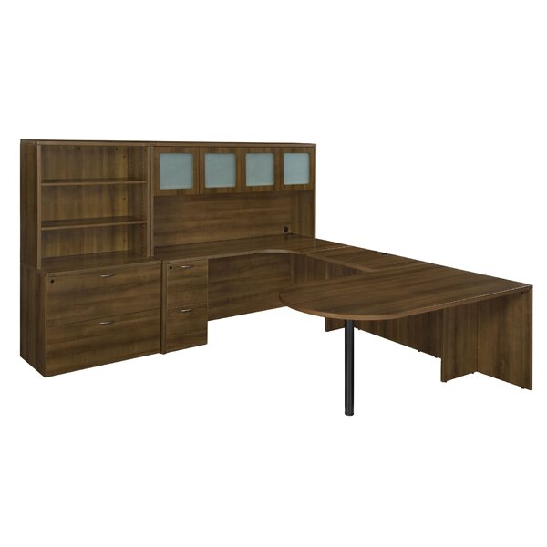 Fairplex 8-Piece L-Shape Desk Office Suite by Flexsteel Contract