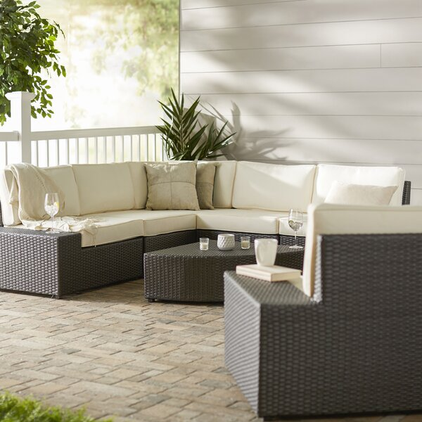 Mountview 7 Piece Rattan Conversation Set with Cushions by Wade Logan