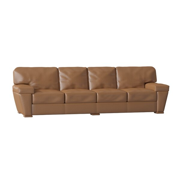 Prescott Genuine Leather 118-inch Pillow Top Arm Sofa By Omnia Leather