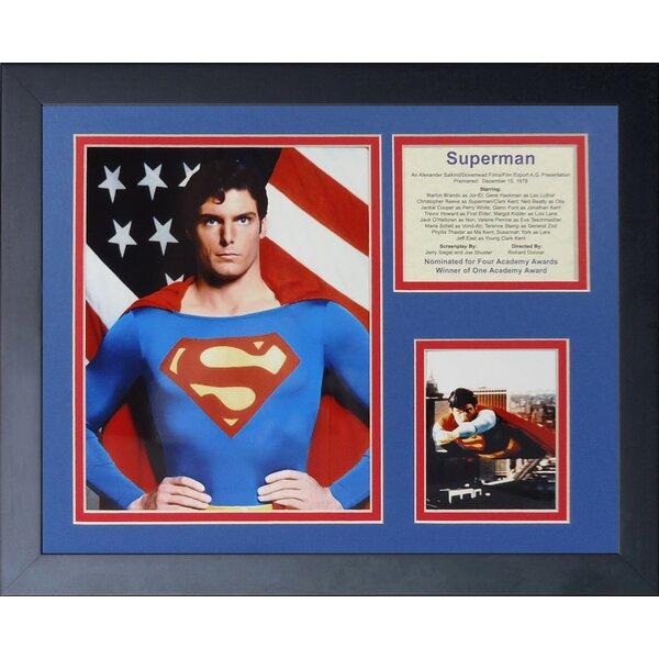 Superman Framed Memorabilia by Legends Never Die