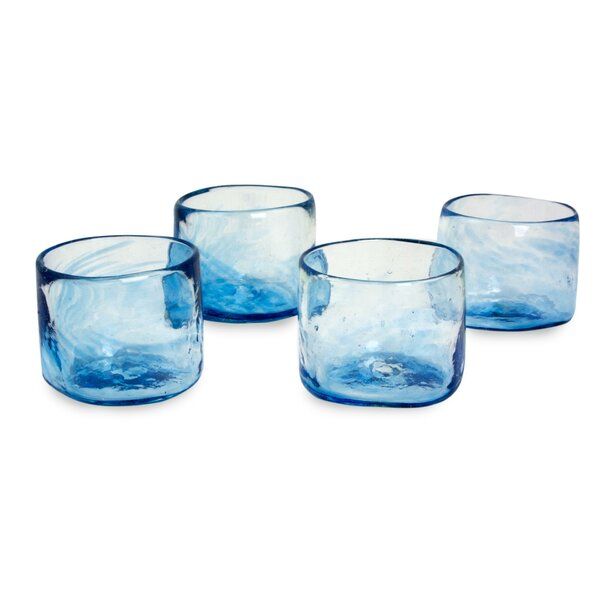 Mist Lowball Glass (Set of 4) by Novica
