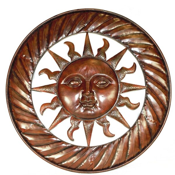 Sun Design Round Metal Wall Décor by World Menagerie