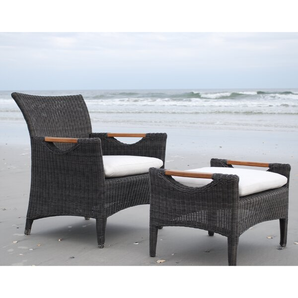 Culebra Patio Chair with Cushion and Ottoman by Kingsley Bate