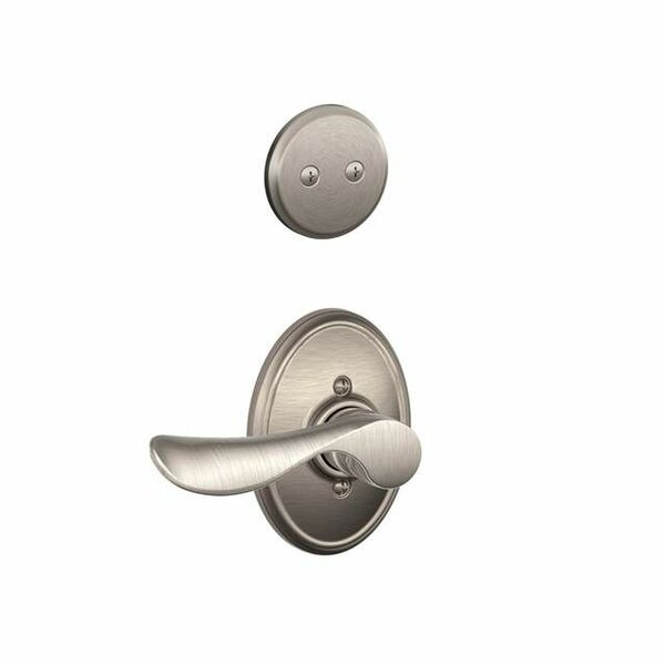 Interior Non-Turning Champagne Lever and Interior Inactive Deadbolt Thumbturn with Wakefield Trim by Schlage