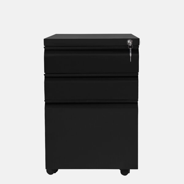Gooseneck 3-Drawer Mobile Vertical Filing Cabinet