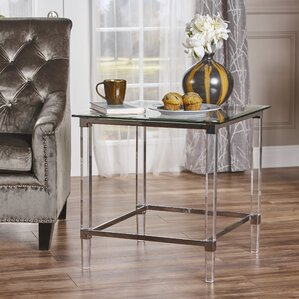 Aleah Modern End Table by Ivy Bronx
