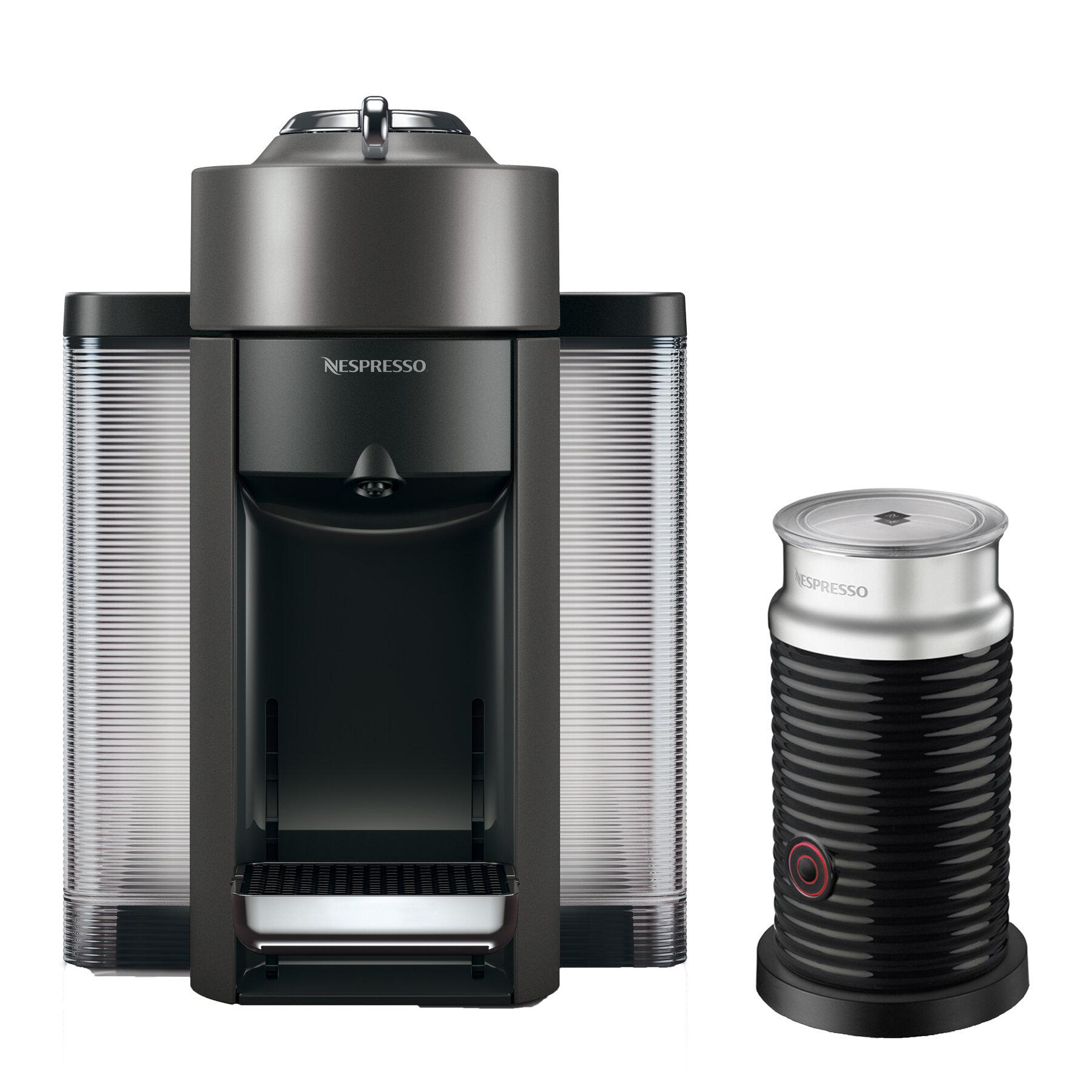 Nespresso DeLonghi Vertuo Coffee And Espresso Single Serve Machine With Aeroccino Milk Frother Reviews