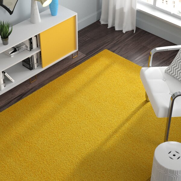 Madison Basic Dark Yellow Area Rug by Zipcode Design