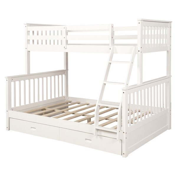 Mclaurin Twin Over Full Bunk Bed with 2 Drawers by Harriet Bee