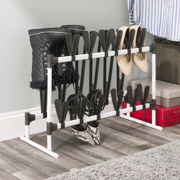 15 Pair Stackable Shoe Rack