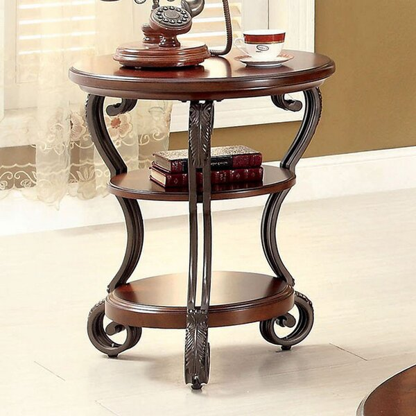 Kanisha Transitional End Table by Fleur De Lis Living
