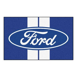 Comparison Ford - Ford Oval with Stripes Tailgater Mat By FANMATS