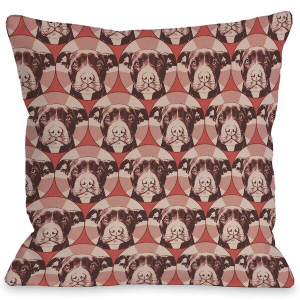 Doggy Décor Love a Bull Throw Pillow by One Bella Casa