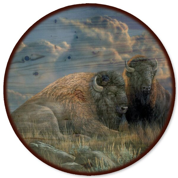 Distant Thunder Bison Lazy Susan by WGI-GALLERY