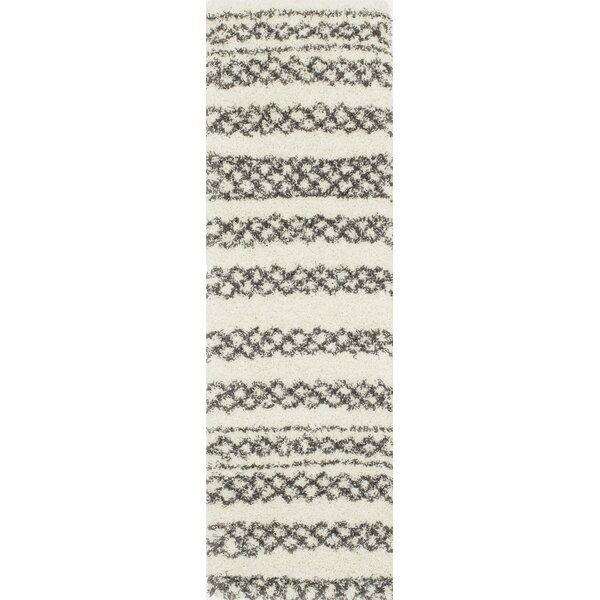Damiane Ivory/Black Area Rug by Mistana