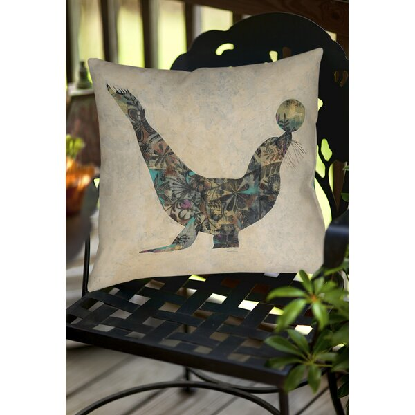Having a Ball 1 Indoor/Outdoor Throw Pillow by Manual Woodworkers & Weavers