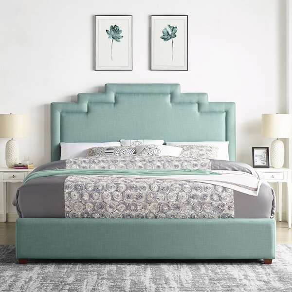 Leafwood Upholstered Standard Bed by Ivy Bronx