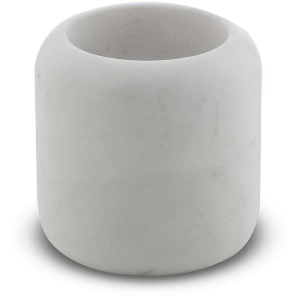 Fransen Round Marble Toothbrush & Tumbler Holder by Wrought Studio