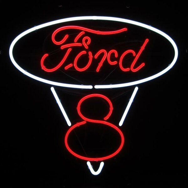Ford V8 Neon Sign by Neonetics