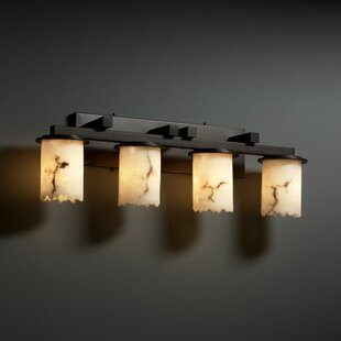 Jacobo 4 Light Cylinder w/ Broken Rim Bath Vanity Light By Brayden Studio Wall Lights