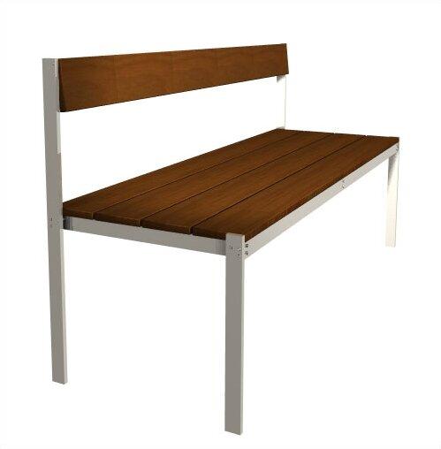 Luma Aluminum Park Bench by Modern Outdoor