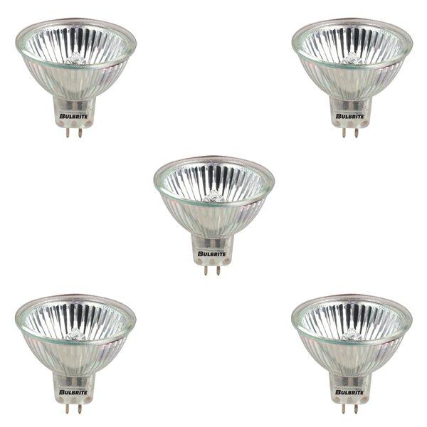 GU5.3 Dimmable Halogen Spotlight Light Bulb Gray/Smoke (Set of 5) by Bulbrite Industries