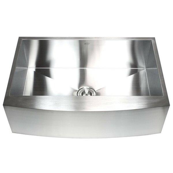 Ariel 33 L x 21 W Stainless Steel Single Bowl Farmhouse Kitchen Sink